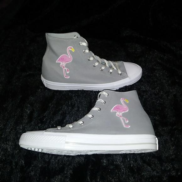 5b773f4cb15a Custom Converse Chuck Taylor Pink Flamingos Hi Top